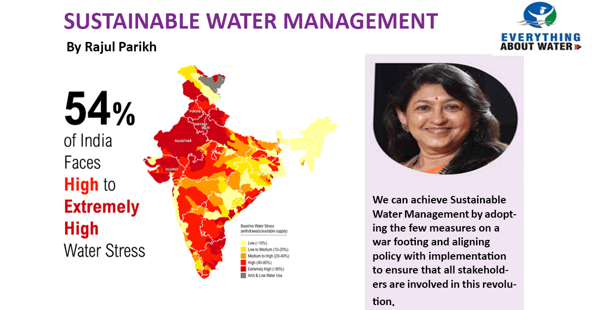 Sustainable Water Management – Article by Rajul Parikh in Everything About Water, Dec 2017 Issue