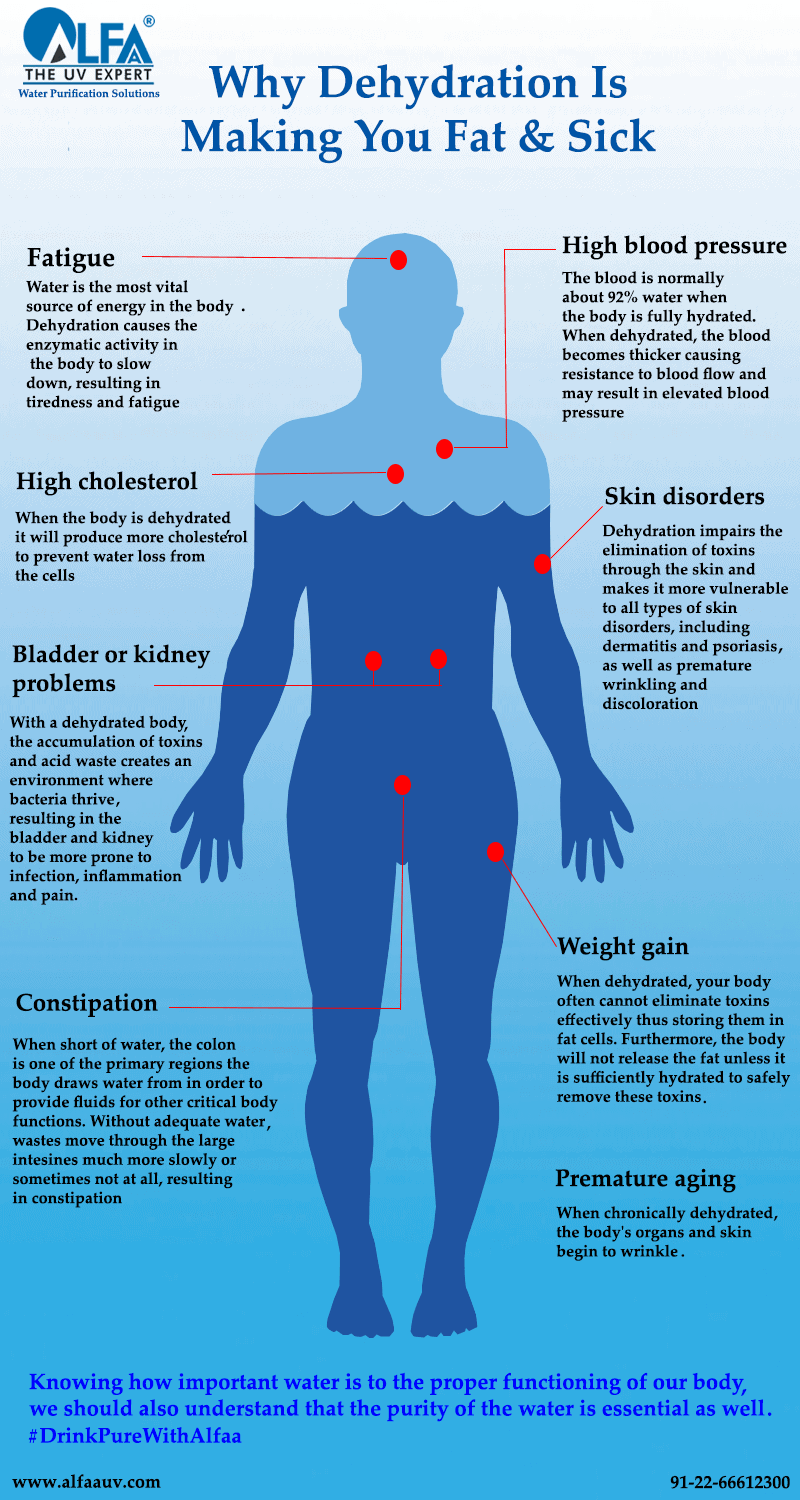 Why Dehydration Is Making You Fat & Sick