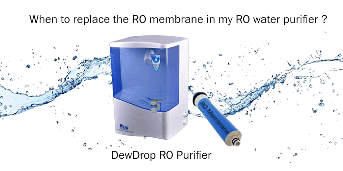 When to replace RO (Reverse Osmosis) membrane in my RO water purifier ?