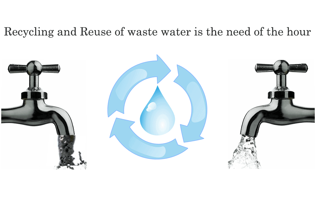 Recycling and reuse of wastewater is the need of the hour