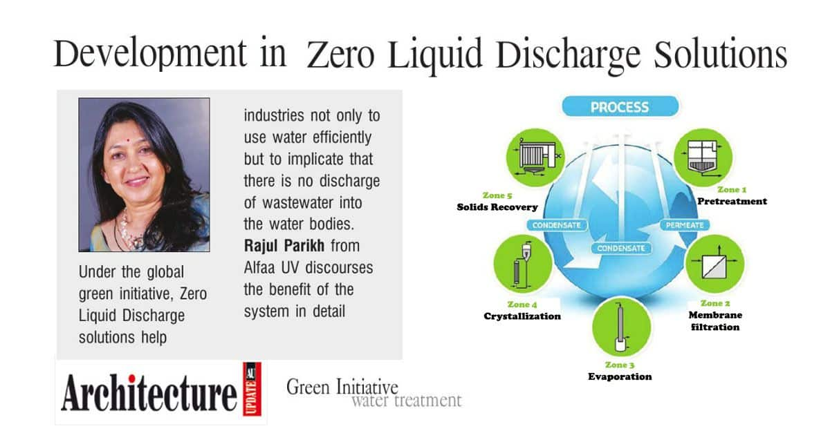 Zero Liquid Discharge – Article by Rajul Parikh in Architecture Update