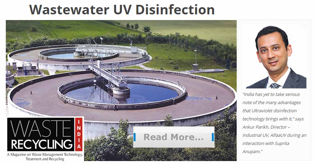 Waste Water Disinfection UV Technology- Waste Recycle India