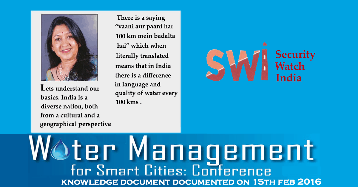 Article by Rajul Parikh in SWI on Water Quality Basics & Treatment Options for Home Water Purification